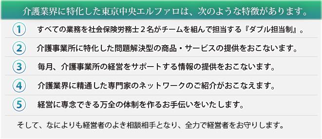 介護業界に特化した東京エルファロは、次のような特徴があります。
